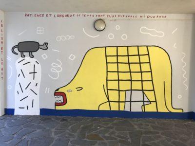 Fresque à la Cité SNCF